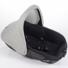 Capote pour siège auto groupe 0 universelle Gaby gris clair