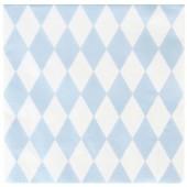 Serviettes en papier losanges bleu clair (20 pièces) - My Little Day
