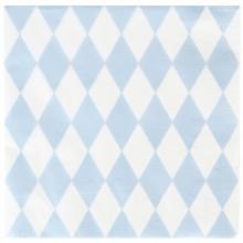 Serviettes en papier losanges bleu clair (20 pièces)  par My Little Day