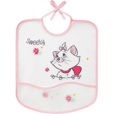 Bavoir plastifié à nouer chat Marie  par Babycalin
