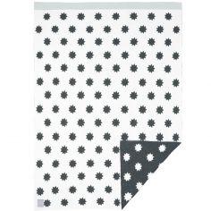 Couverture bébé en coton bio Little Chums étoiles blanche (75 x 100 cm)