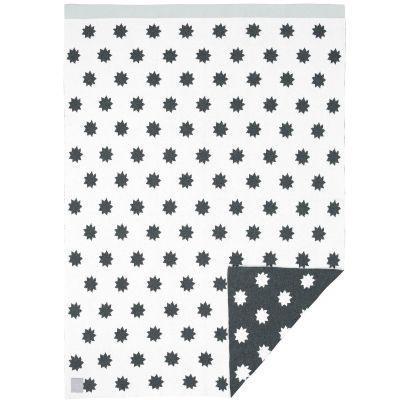Couverture bébé en coton bio Little Chums étoiles blanche (75 x 100 cm)  par Lässig