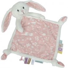 Doudou plat lapin Adventure pink (19 x 19 cm)  par Little Dutch