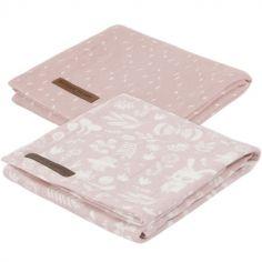 Lot de 2 langes Adventure pink (70 x 70 cm)