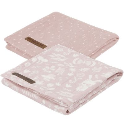 Lot de 2 langes Adventure pink (70 x 70 cm)  par Little Dutch