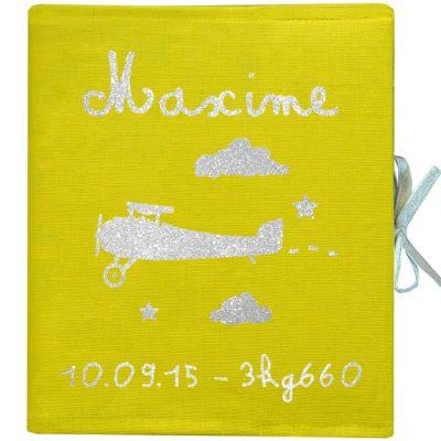 Album photo naissance personnalisable jaune (126 pages)  par Les Griottes