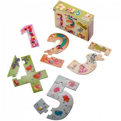 Puzzle des chiffres 1,2,3 (15 pièces) Lilliputiens