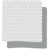 Lot de 2 langes Happy Dots gris (70 x 70 cm)  - Done by Deer
