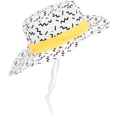 Chapeau réversible Zigzag Kapel anti-UV Panama jaune (12-18 mois)  par KI et LA