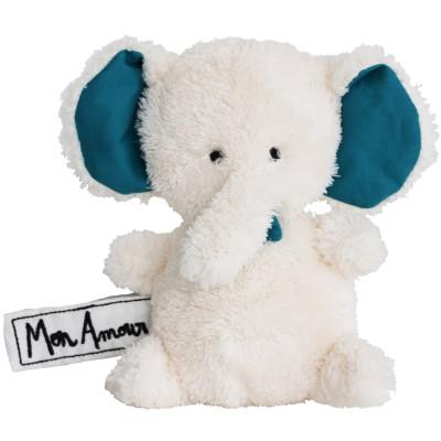 Mini peluche éléphant Mon Amour (17 cm) Les P'tites Douceurs