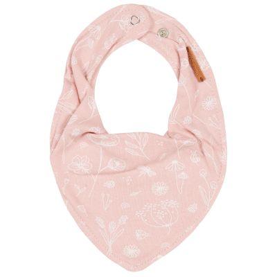 Bavoir bandana Wild Flowers pink  par Little Dutch