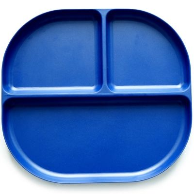 Assiette à compartiments en bambou Bambino bleu roi  par EKOBO