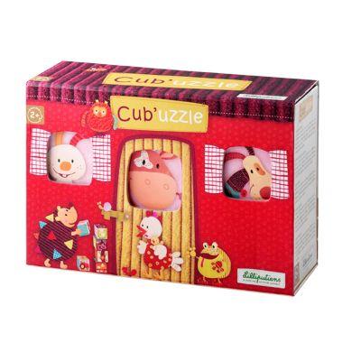 Cub' Uzzle, les cubes puzzle (6 cubes)  par Lilliputiens