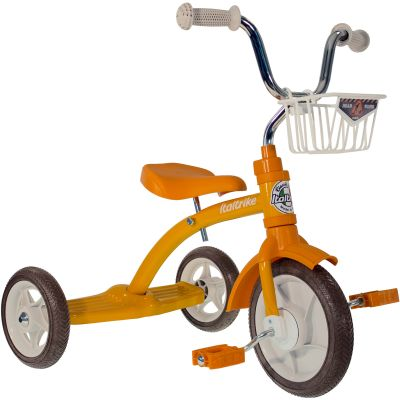 Tricycle Super Lucy avec panier avant 10'' orange  par Italtrike