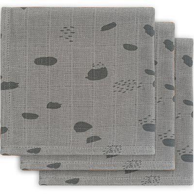Lot de 3 mini langes hydrophiles Spot storm grey (31 x 31 cm)