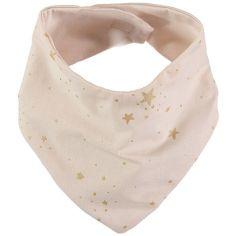 Bavoir bandana Lucky coton bio Gold stella Dream pink