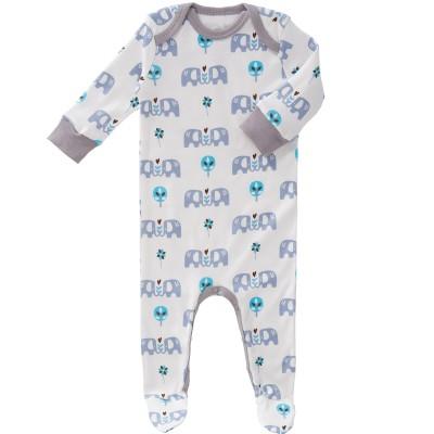 Pyjama léger Eléphant bleu (0-3 mois : 50 à 60 cm)  par Fresk