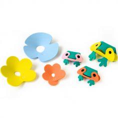 Jouets de bain à assembler L'étang à grenouilles