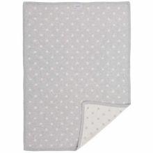 Couverture jacquard Poudre d'étoiles gris clair et blanc (75 x 100 cm)  par Noukie's