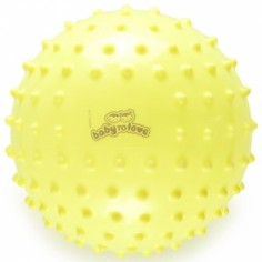 Balle tactile fluo jaune