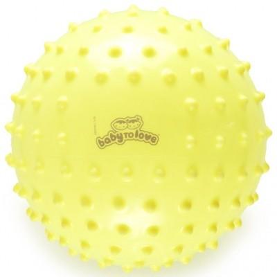 Balle tactile fluo jaune  par BabyToLove