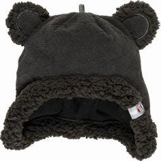 Bonnet ours noir Botanimal (0-3 mois)