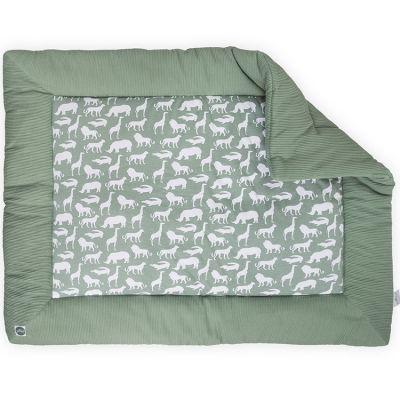 tapis de jeu safari vert d 39 eau 80 x 100 cm jollein. Black Bedroom Furniture Sets. Home Design Ideas