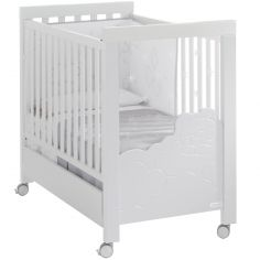 Lit bébé évolutif Dolce Luce relax plus blanc avec éclairage LED (60 x 120 cm)