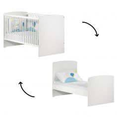 Lit bébé évolutif New Basic Little Big Bed blanc (70 x 140 cm)