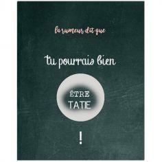 Carte à gratter Annonce de grossesse Chalkboard Tatie (8 x 10 cm)