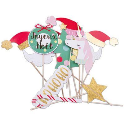 Accessoires pour photos Noël décalé (12 pièces)  par Arty Fêtes Factory