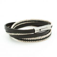 Bracelet Le Marin noir (acier)