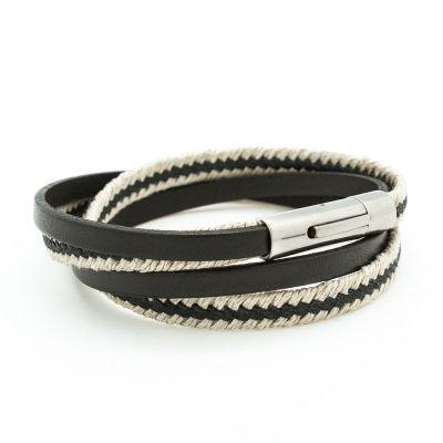 Bracelet Le Marin noir (acier) Petits trésors