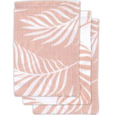 Lot de 3 gants de toilette Nature rose pâle
