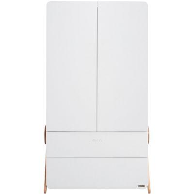 Armoire 2 portes et 2 tiroirs Swing blanche  par Micuna