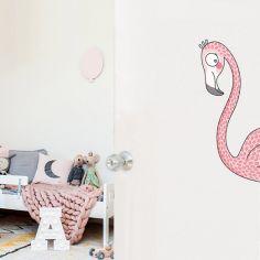 Sticker de porte flamant rose (côté droit)
