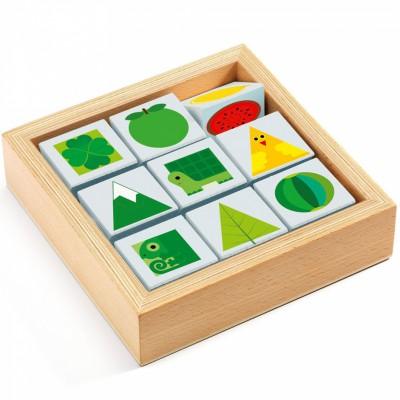 Jeu de cubes en bois TriBasic Djeco