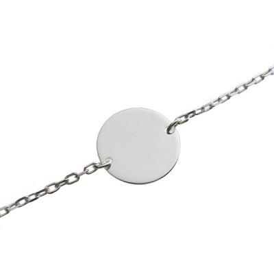 bracelet empreinte gourmette cha ne simple 14 cm or blanc 750 par les empreintes. Black Bedroom Furniture Sets. Home Design Ideas