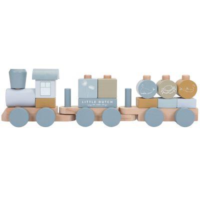 Train de construction en bois Ocean (17 pièces)  par Little Dutch