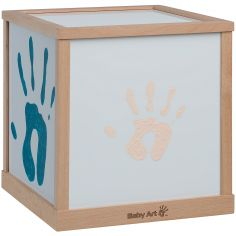 Lampe cube empreintes Family light