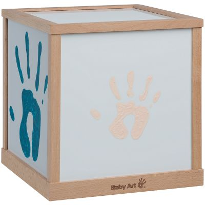 Lampe cube empreintes Family light  par Baby Art