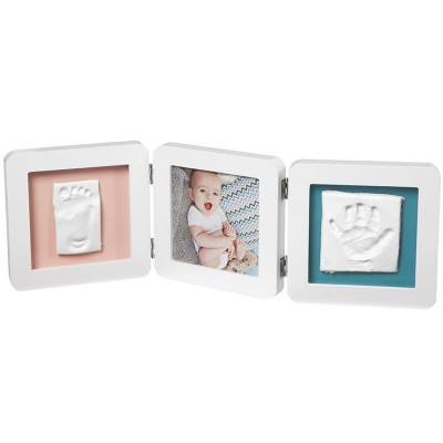 Cadre photo empreinte My Baby Touch double blanc