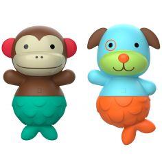 Jouets de bain Mix & Match Flippers Zoo Singe et chien