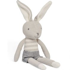 Peluche Lapin Joey gris (50 cm)