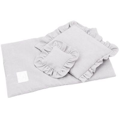 Parure de lit pour poupée gris clair (42 x 28 cm)  par Cotton&Sweets