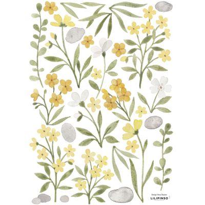 Planche de stickers A3 Fleurs et feuillages Lilipinso