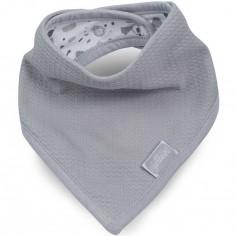 Bavoir bandana Tiny waffle gris