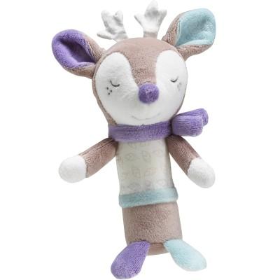 Doudou hochet faon Noisette (15 cm) Sauthon Baby Déco