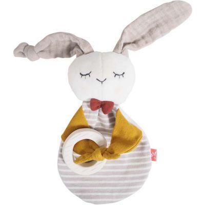 Anneau de dentition en caoutchouc petit lapin  par Kikadu