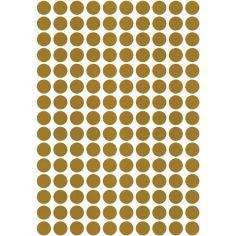 Stickers ronds dorés (29,7 x 42 cm)